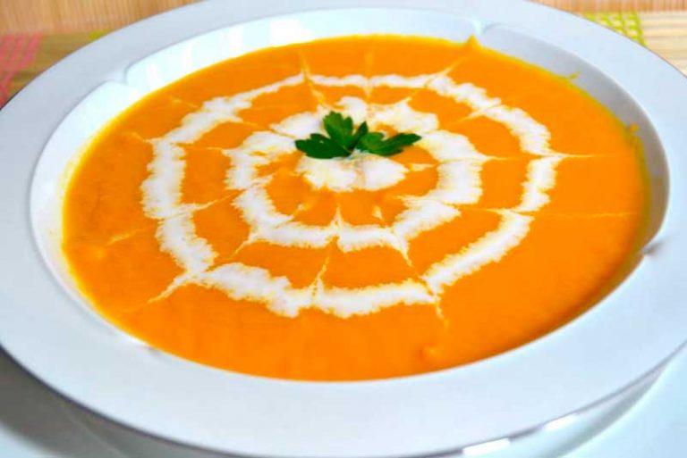 Crema de zanahoria ligera
